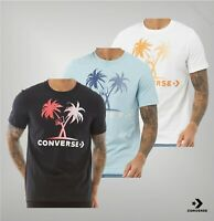 Mens Converse Short Sleeve Printed Top Cotton Jersey T Shirt Sizes from S to XXL
