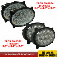 2Pairs Oval 65W 39W Led Tractor lights For John Deere 8130,8230,8230T,8330,8330T