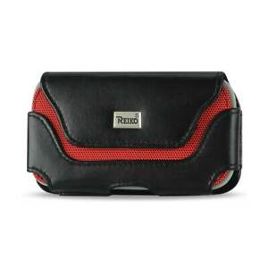 Reiko Horizontal Cell Phone Wallet Pouch Belt Clip Case Holder for iPhoneSamsung