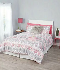 Justice Aztec Pink/Grey Bed In A Bag Queen Super Cute Set!