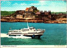 Used  John Hinde Postcard, Channel Islands, Elizabeth Castle, Jersey, pm june 81
