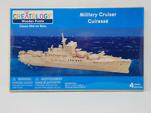 Creatology Military Cruiser Wooden Puzzle Model Kit