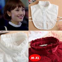 Women's Girl OL Blouse Half Shirt Collar Fake False Choker Collar Detachable New