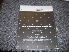MARANTZ CAR-312. Service Manual Original Paper