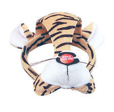 Tiger Face Mask & Sound Animal Fancy Dress Costume Outfit New
