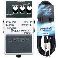 Boss NS-2 Noise Suppressor + Gitarren-Kabel