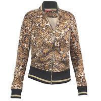 Puma Printed Bomber Leopard Black Womens Sweat Top Track Jacket 566851 13 UA103