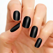 Color street nail polish strips Solid Color Midnight in Manhattan NIB black