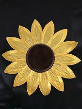 IRON ON Sunflower Embroidered Applique Motif Craft