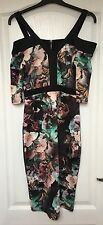 "NEW ""Star by Julien MacDonald"" Women's Butterfly/Floral Black Trim Dress, Size 8"