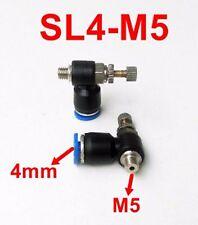 M5 Thread 4mm pneumatic Elbow Regulator Throttle Fitting Push fit air fittings