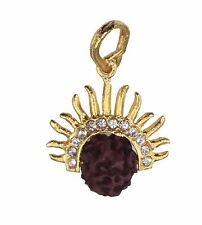 Gold Diamante Sun Shiva Rudraksha Pendant/Amulet/Locket High Quality Prayer