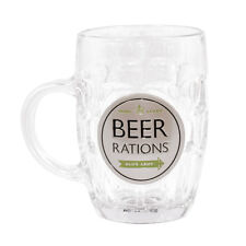 Dad's Army Beer Rations Pint Glass Beer Tankard Christmas Gift Him
