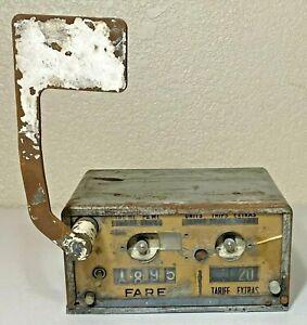 Vintage Taxi Cab Fare Meter
