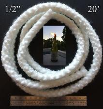 1/2 Round Fiberglass Wick 20 Feet Kerosene Lamp Tiki Torch Bottle Oil Candle USA