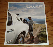 Original 2012 Chevrolet Avalanche Foldout Sales Brochure 12 Chevy