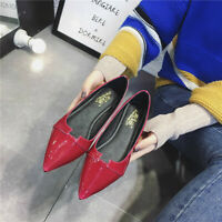 Women Summer Casual Ballet Flats Pointed Toe Dress Shoes Slim Solid Color