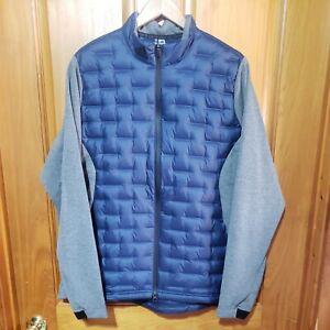 Adidas Golf Frost Guard Blue Gray Insulated Downed Puffer Jacket DZ8546 Men XL