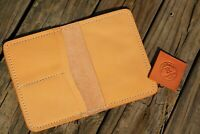 "Genuine Leather Passport Wallet ID Card Note Pad 4.25""x5.75""  4 COLORS FREE SHIP"