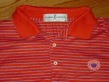 Mens L Medinah Country Club Golf Shirt Polo Short Sleeve Large Orange