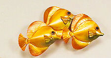 WALL ART - TROPICAL FISH  WALL SCULPTURE -  YELLOW TANGS - COASTAL WALL DECOR