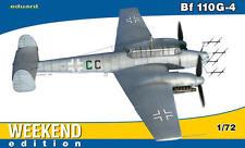 Eduard Messerschmitt Me Bf 110g-4 110 g vara II./njg1 modelo-kit 1:72 Kit