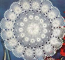 Vintage Crochet PATTERN to make Doily Erin Irish Rose Flower Pinwheel 3 sizes