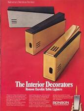 1971 RONSON Eurolite Table Lighter PRINT AD