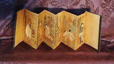"Antique 18C Japanese Original 6 ""Shunga"" Watercolor Paintings In Folding Album"