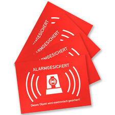4 Stück Aufkleber Alarmgesichert Alarmanlage für Innen und Au�Ÿen (7,4x5,2cm)