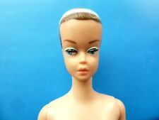 VINTAGE NUDE BARBIE MOLDED HAIR FASHION QUEEN DOLL WITH BLUE BAND FROM 1960'S