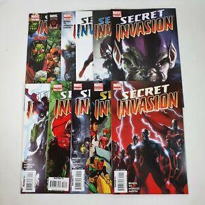 Secret Invasion 1-8 Full Run + Variant #1, One Shot & Saga Marvel Comic Book Lot