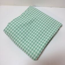 """1 &7/8 Yards green Whit Houndstooth Double Knit Fabric 62"""" wide"""
