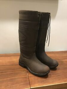 Toggi Canyon Waterproof Country/riding  Boots Leather Chocolate  Size 7/40