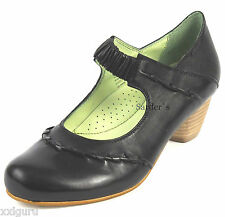 Hush Puppies Spangenpumps 37 LEDER Pumps Schwarz Black Damen Schuh Edel Chic NEU