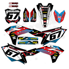 2005 2006 2007 CRF 450R GRAPHICS KIT HONDA CRF 450 R MOTOCROSS BIKE DECALS