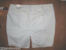 Lane Bryant Genius Fit White Stretch Denim Bermuda Jean Shorts 26 (26W 3X 4X)