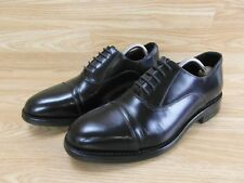 Mens Gents Samuel Windsor Handmade Black Leather Oxford Shoes Size 9 UK 43 EUR