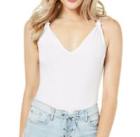 Guess Womens Tank Top White Small S V-Neck Racerback Ndea Thong Bodysuit $49 291