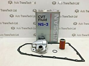GENUINE  X TRAIL CVT AUTOMATIC GEARBOX OIL 4L NS-3 FILTER GASKET JF011E