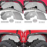 2pcs DEF Front Inner Fender Liners for 2007-2018 Jeep Wrangler JK JKU 4WD Aluminum Black Splash Guards Lightweight Design
