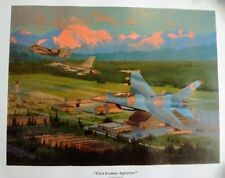 Warren Neary USAF Jets F-16 A-10 FIRST ICEMAN AGGRESSOR Ltd Ed Art Print Poster