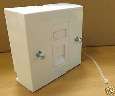 1 x CAT6 GIGABIT RJ45 UTP Low Profile 25x50 Euro Network Module Data w/Plate+Box