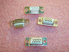 QTY (10) 15 POSITION 3 ROW (5x3) DSUB RECEPTACLE SOLDER CUP