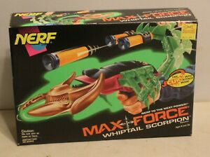 VTG Nerf Max Force Whiptail Scorpion Dart Gun Blaster NIB 1995 Tonka NOS w/Darts
