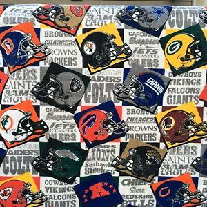 """Vintage NFL Blanket Throw Team Football Helmets 40 x 64"""" Retro"""