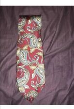 Lord Ascot Tie Dk Maroon Blue Gray Tan Paisley New With Tags