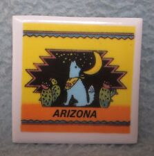 Howling Wolf Arizona Tile Magnet, Souvenir, Travel, Refrigerator