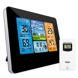 Digital Indoor Outdoor Weather Station Alarm Clock Calendar Thermometer Wireless