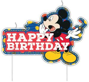 Mickey Mouse Disney 2D Birthday Cake Candle